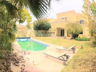4 Bedroom Villa for Rent in Jumeirah Park, Dubai - Dist 4 | Back to Back | 4 Bedroom+Maids|Private Pool