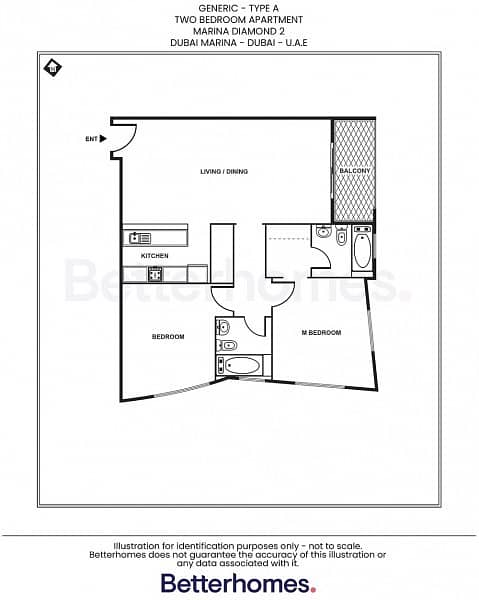 13 Furnished 2 Bedroom with balcony in Marina Diamond