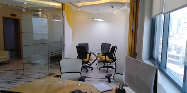 Office for Rent in Business Bay, Dubai - Fully Furnished Office??? Elegant Office with new Furniture for a Comfortable Working Environment