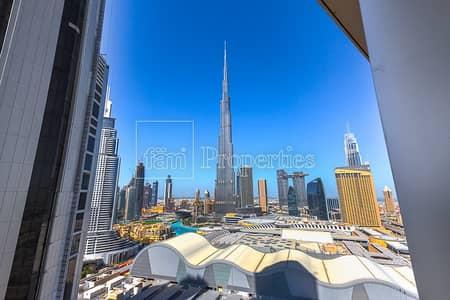 شقة 2 غرفة نوم للبيع في وسط مدينة دبي، دبي - Mid unit   High floor    Full Burj view