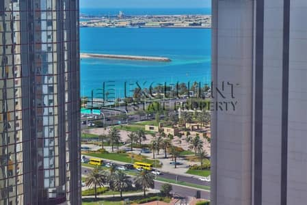 2 Bedroom Flat for Rent in Corniche Area, Abu Dhabi - Sea View 2 BR Apartment
