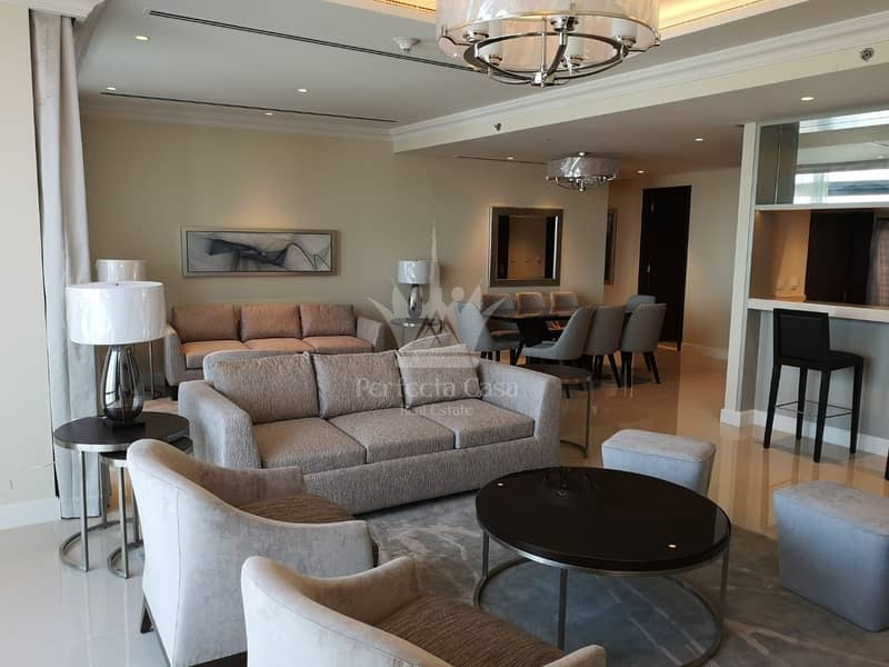 Fully Furnished 3 BR w Maids | All Inclusive | Full Burj Khalifa  Fountain View