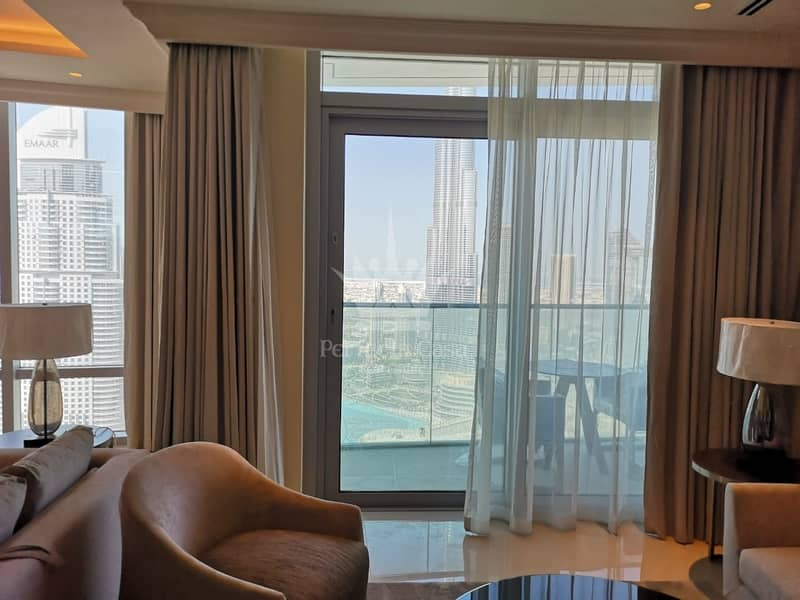 2 Fully Furnished 3 BR w Maids | All Inclusive | Full Burj Khalifa  Fountain View