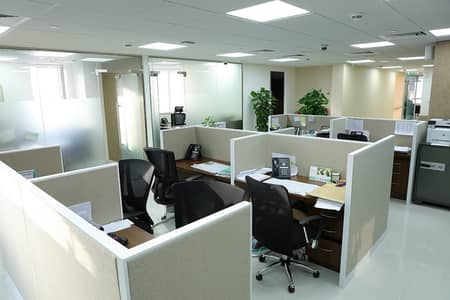 Office for Rent in Deira, Dubai - NEW BUSINESS SETUP/FULLY FURNISHED OFFICE SPACE ONE YEAR CONTRACT & INSPECTIONS