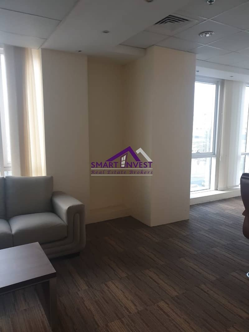 Fully Furnished Office for rent in Al Karama near post Office for 150k/Yr.