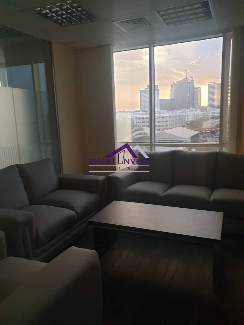 2 Fully Furnished Office for rent in Al Karama near post Office for 150k/Yr.