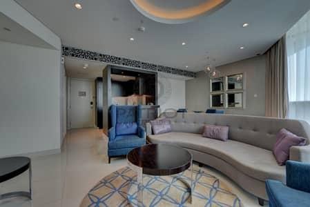 فلیٹ 2 غرفة نوم للايجار في وسط مدينة دبي، دبي - Luxury Furnished 2 Bedroom Hotel Apartment Beautiful View