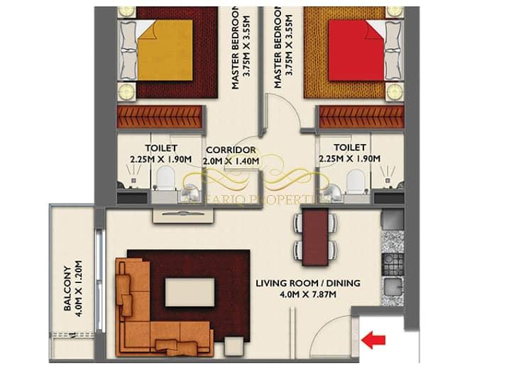 38 2B/R Apartment for Sale-International City