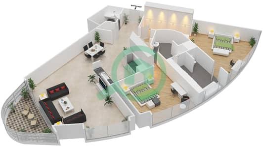 Ajman Corniche Residence Floor Plans Corniche Ajman Bayut Ajman