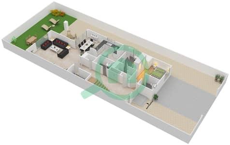 المخططات الطابقية لتصميم النموذج D فیلا 4 غرف نوم - منتجع ونادي الحبتور للبولو - ذي رزدنسز