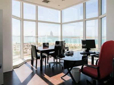 مکتب  للايجار في منطقة الكورنيش، أبوظبي - Sea view