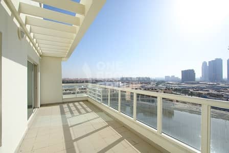 3 Bedroom Apartment for Sale in Jumeirah Heights, Dubai - 3BR Duplex with Full Lake View & Maids Room