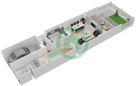 المخططات الطابقية لتصميم النموذج A فیلا 3 غرف نوم - بيتي