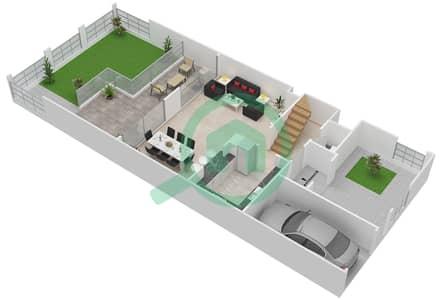 المخططات الطابقية لتصميم النموذج B فیلا 4 غرف نوم - بيتي