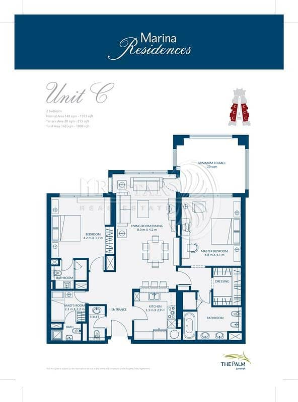 10 Bldg 01 |  Two Beds plus Maids  | Type C