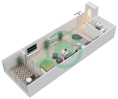 المخططات الطابقية لتصميم النموذج D شقة  - برج قيصر