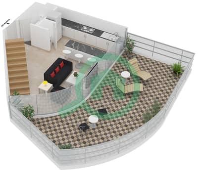 Magnolia Residence - 1 Bedroom Apartment Type L-1B-1 Floor plan