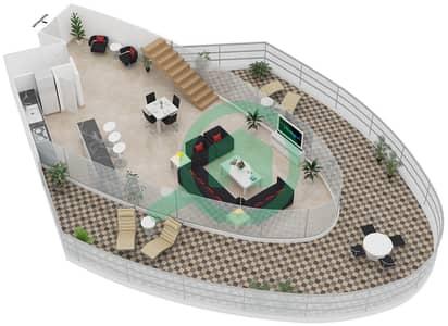 Magnolia Residence - 1 Bedroom Apartment Type L-1B-7 Floor plan