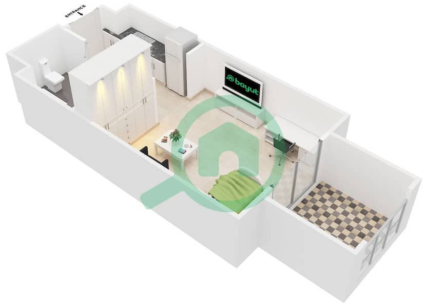 المخططات الطابقية لتصميم النموذج 1 B شقة  - كانديس استر image3D