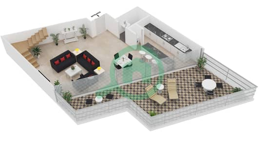 Magnolia Residence - 1 Bedroom Apartment Type L-1B-6 Floor plan