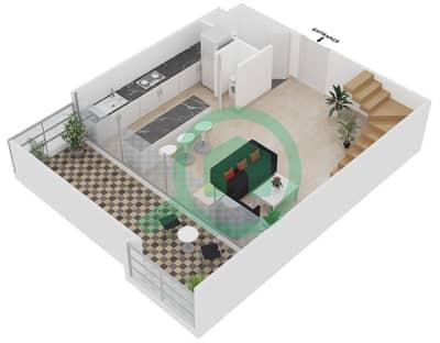 Magnolia Residence - 1 Bedroom Apartment Type L-1B-2 Floor plan