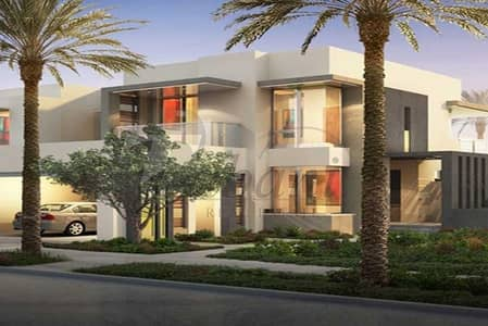 5 Bedroom Townhouse for Sale in Dubai Hills Estate, Dubai - Single Row Community View Five Beds Home