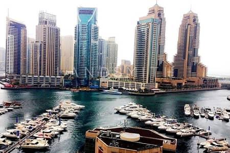 شقة 3 غرفة نوم للايجار في دبي مارينا، دبي - Full Marina View 3BR in Al Fairooz Tower