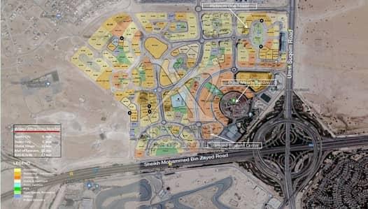 Mixed Use Land for Sale in Arjan, Dubai - Plot for sale in Arjan opposite of Dubai Auto Drome