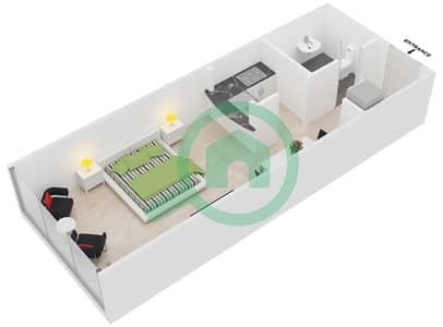 المخططات الطابقية لتصميم النموذج A1 شقة  - رويال ريزيدنس 1