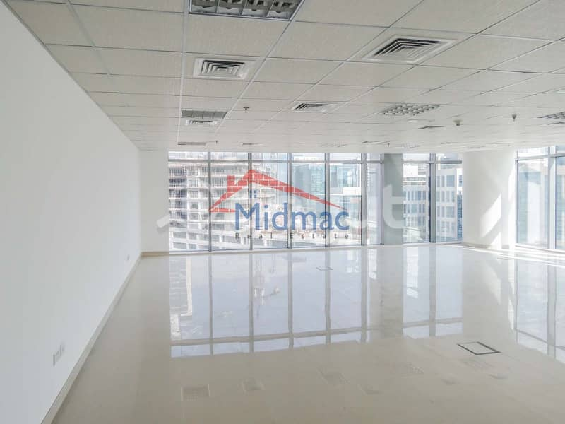 BIG CORNER OFFICE - BURJ /CANAL VIEW - COOL LOW PRICE | Bayut com