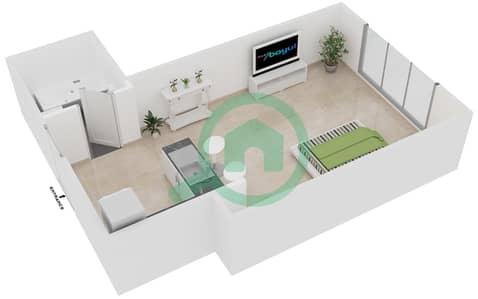 المخططات الطابقية لتصميم النموذج T1 شقة  - سوليتير كاسكيدز