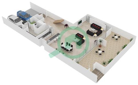 المخططات الطابقية لتصميم النموذج / الوحدة A1/TH06 تاون هاوس 4 غرف نوم - منتجع شاطئ نكي
