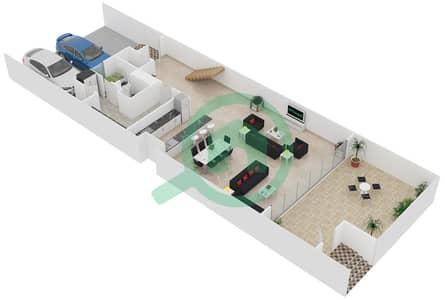 المخططات الطابقية لتصميم النموذج / الوحدة A/TH01-TH05 تاون هاوس 4 غرف نوم - منتجع شاطئ نكي
