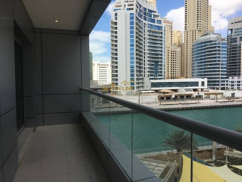 Well Maintained 1 Bed with Partial Marina View