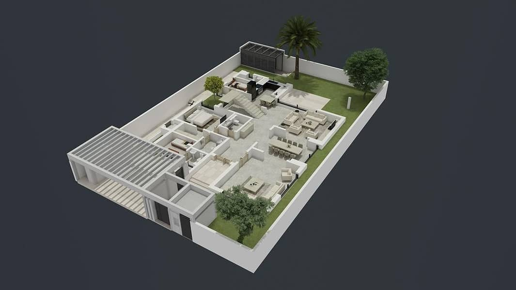 2 Elegant & Luxurious Villa at  West Yas 5BR T3C2 Type.