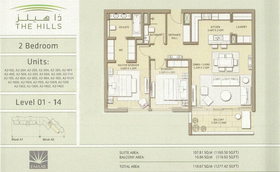 10 Exclusive   High Floor   2 Bed + 2 Bath