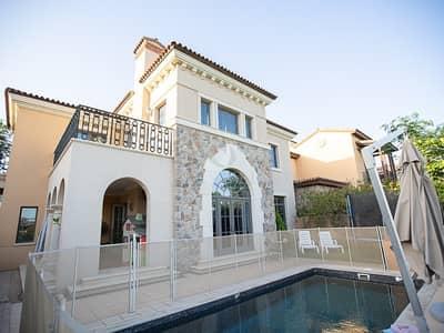 فیلا 4 غرفة نوم للايجار في جميرا جولف إستيت، دبي - Firestone - rectangle pool - golf course views