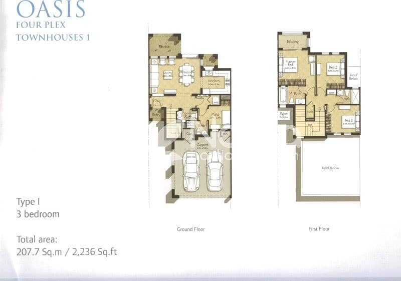 10 I Type | 3 Beds | Mira Oasis 1 | Brand New