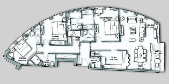 10 Three Bed | Maids | Full Burj Khalifa View