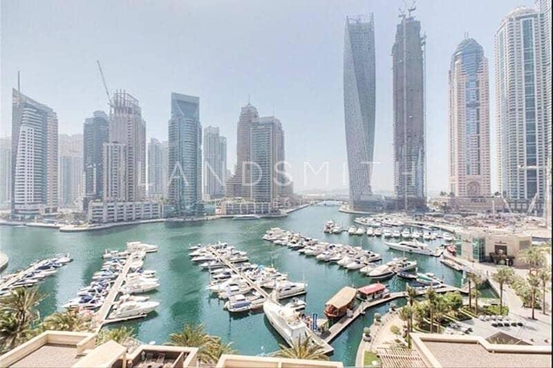 Full Marina View 3BR Apt in Al Murjan Tower