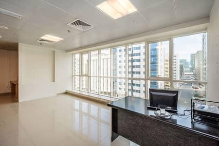مکتب  للايجار في شارع السلام، أبوظبي - Excellent Location   Fitted   Low Floor