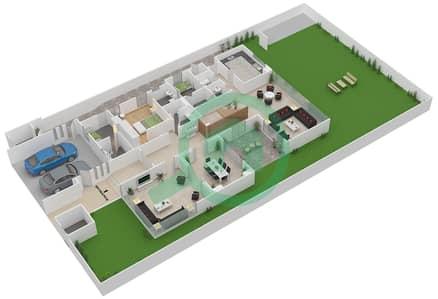 المخططات الطابقية لتصميم النموذج 4B فیلا 5 غرف نوم - وست ياس