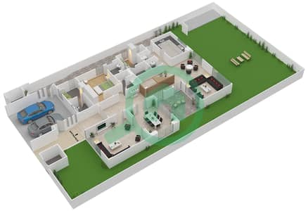 المخططات الطابقية لتصميم النموذج 4A فیلا 5 غرف نوم - وست ياس