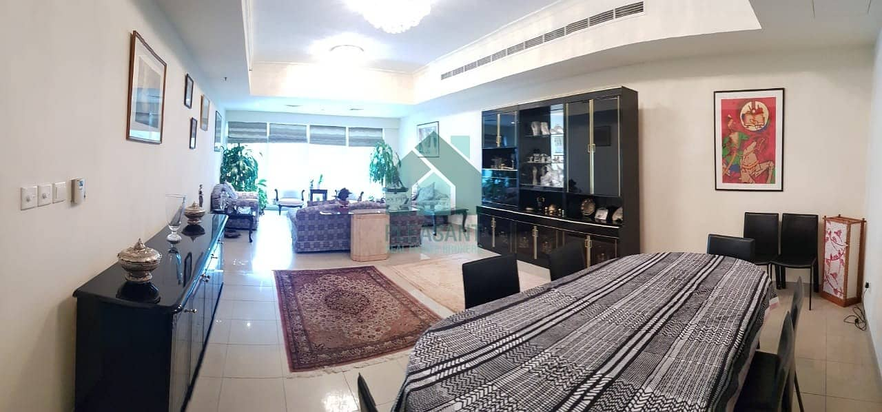 Fully Furnished    2 Br + Maids - Partial Marina View