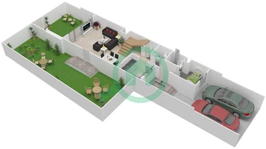 المخططات الطابقية لتصميم النموذج RIGHT فیلا 3 غرف نوم - توليب بارك