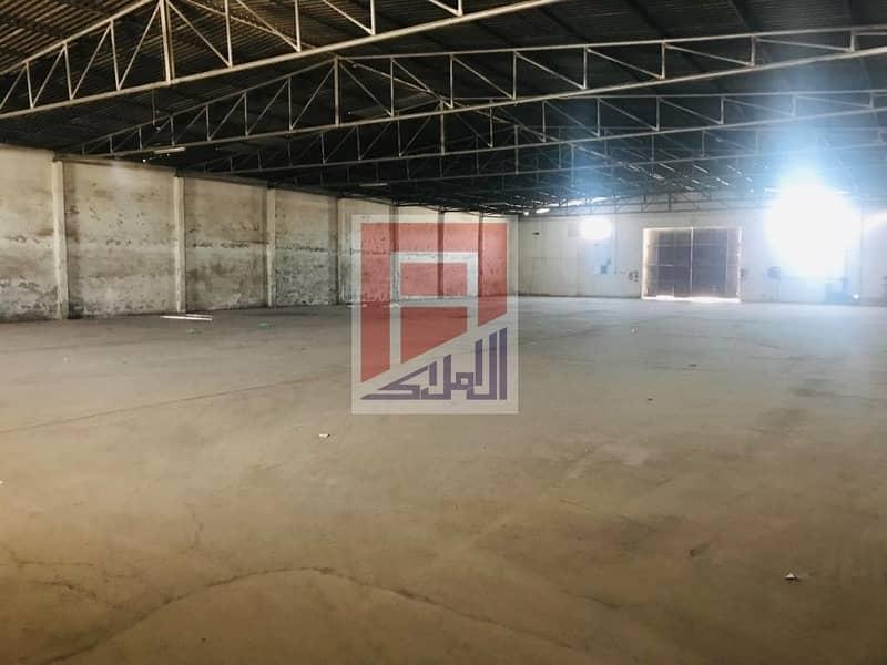 Big Yard with one warehouse available in Sanaiya