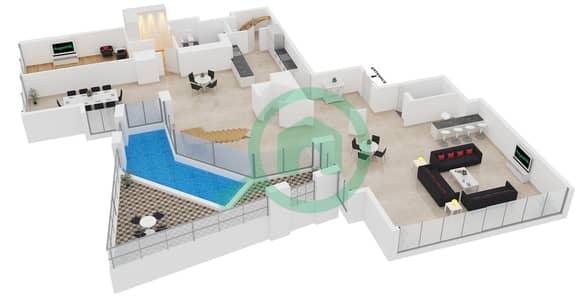 23 Marina - 4 Bedroom Apartment Unit 4 FLOOR 62-85 Floor plan