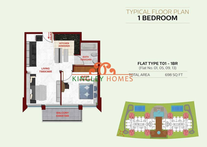 6   2 Bedrooms Brand New Apt in Glamz Residence 1.