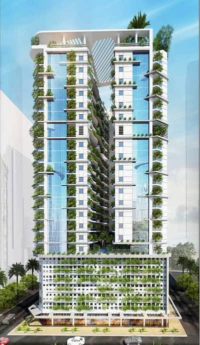 استوديو  للبيع في العامرة، عجمان - رمضان كريم/ / تملك استوديو بأول برج صديق للبيئة . . . مقدم 5% و قسط شهري 1900د