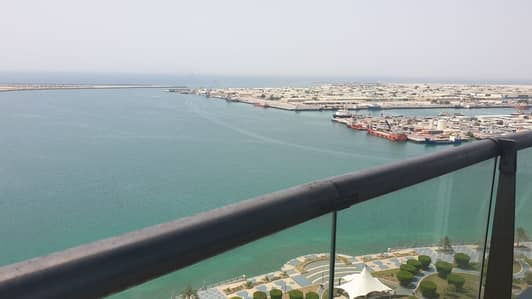 2 Bedroom Apartment for Rent in Corniche Area, Abu Dhabi - Spacious 2BR; Full Sea View Al Reef Tower : Vacant